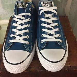 Converse teal canvas All star tennis shoes men 13